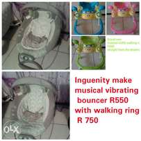 Musical bounce and musical walking ring
