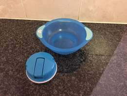 Toddler bowl with suction base