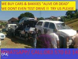 Accident Damaged cars and bakkies wanted Urgently