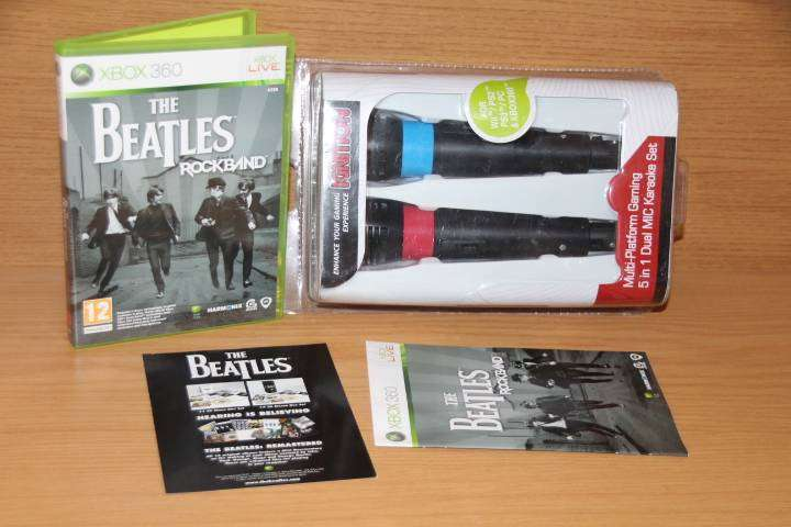 Xbox 360 The Beatles rock band with brand new mics - Gaming