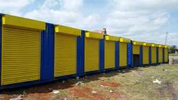 40ft container with shopping stalls