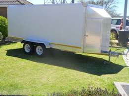 2.0m x 1.5m x 1.5m refrigerated chiller and freezer trailers