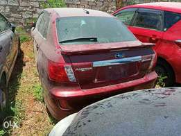 Subaru Anesis Redwine with Spoiler. 2010 model. KCP number Loaded w