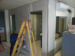 Office partitioning and ceilings