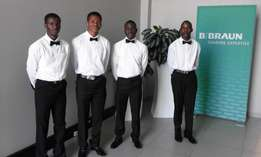 Hiring of catering , staff ,waiters,waitresses,barman,chefs