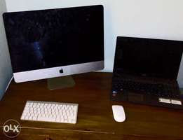 21.5 Mac computer with rechargeable magic mouse & keyboard.