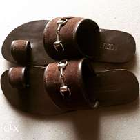 Coffe brown suede toe ring Slippers (Valentine sales)