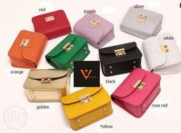 colorful hand bags