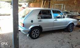 For sale a silver vw golf 1600.