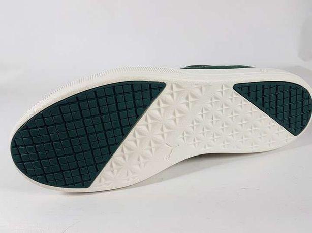 PUMA adidasy męskie ZA KOSTKĘ skóra zielono białe NATURALNA
