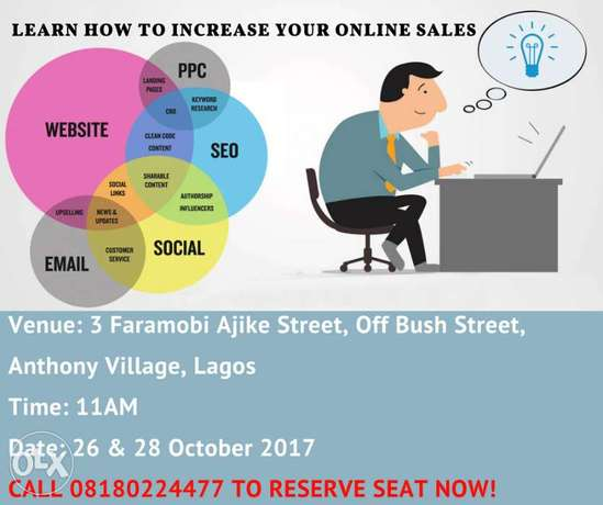 Learn how to increase your online sales, LAGOS Lagos Mainland - image 1