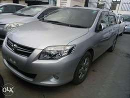 Silver color Toyota Fielder KCP