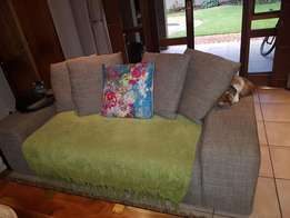 2 x Two seater extra length Coricraft couches