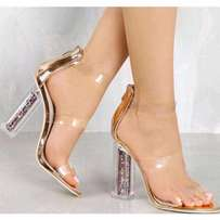 Transparent Glass Heel Shoes