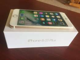Unused gold iPhone 6s plus in gold colour for sale