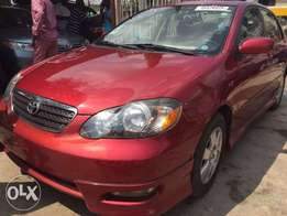 2005 Red toyota corolla S