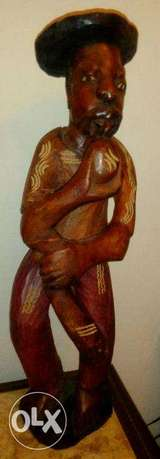 Wooden carved statue 55cm
