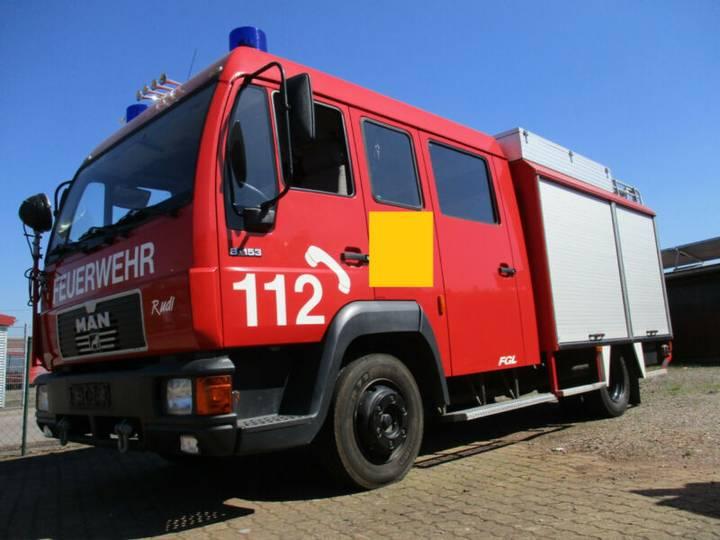 MAN 8.153 L2000 Feuerwehr LF 8/6 Wassertank 600L - 1996