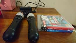 Ps3 Move Camera + Game + Controllers