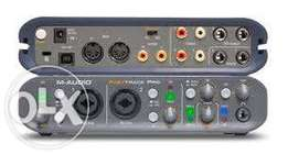 M-audio fast track Pro 4in 4out studio audio midi interface