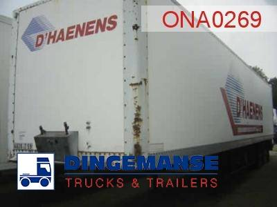 Netam-Fruehauf 2-axle closed box trailer 81.2 m3 - 1986