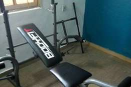 Imported brand new weight lifting bench with 50kg