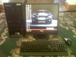 computer forsale very fast 1 gig ram build in sound and flat screen