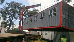 Shipping containers converted