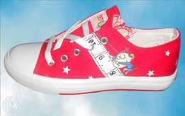Red unisex shoes
