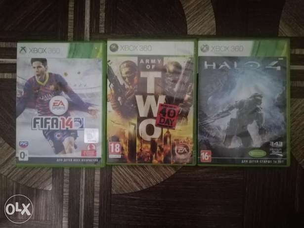 Xbox 360 games(fifa 14,army of two, halo 4)
