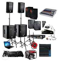 Full Sound Event Package Hire.