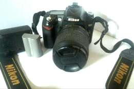 Nikon D90 camera for sale with 18 - 105mm f/3.5 - 5.6G ED. VR. DX