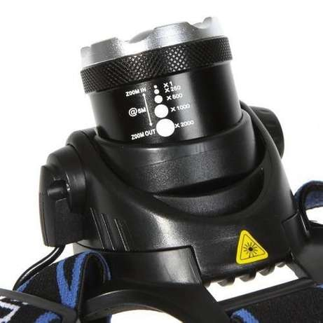 1800 Lumens KREE T6 LED Rechargeable Headlight Zoom in & Zoom out Sunridge Park - image 4
