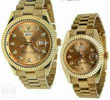 Brand New Rolex Couples Watch - Gold