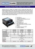 Microcare 1.5KW and 5.5KW Three-Phase SOLAR PUMP CONTROLLERS FOR SALE