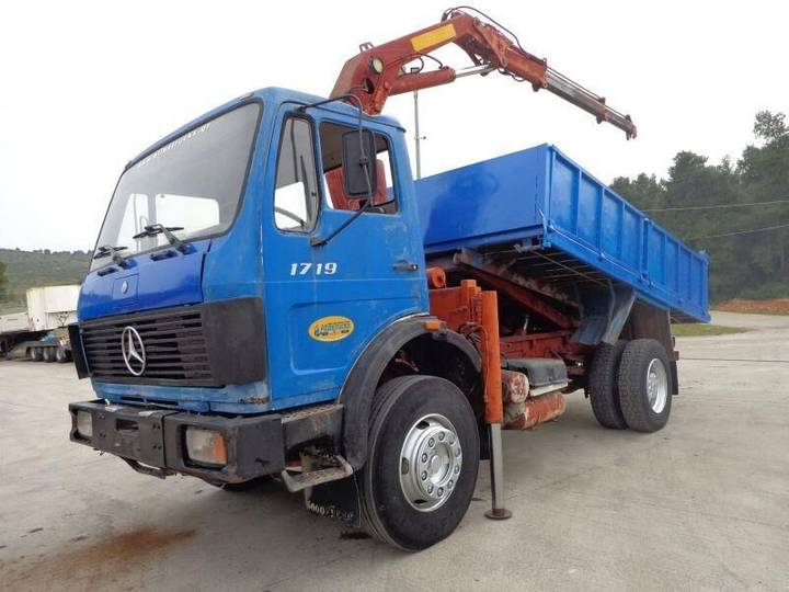 Mercedes-Benz MB 1719 (4X2) KIPPER & CRANE - 1988