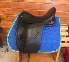 """Black Country Eloquence X 17.5"""" MW Dressage Saddle-Hoop Tree"""