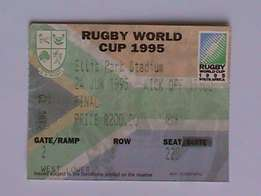 Rugby World Cup Final 1995 ('Invictus') Ticket & Program