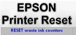 Epson printers RESET waste ink counters