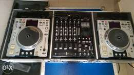 Denon CDj's and Numark Mixer