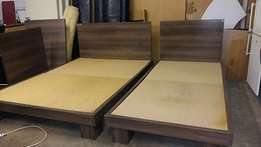 Beautiful Double Bed Base with Headboard R850