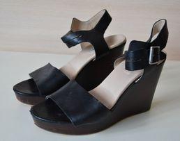 85d9e335e2648 Clarks skórzane sandały na platformie jak nowe 38