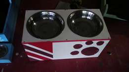 Dog stand with bowls for sale