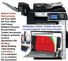 Digital Printing A4,A3 ,Pictures and Binding services
