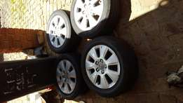16 inch Audi mags 5 by 112pcd