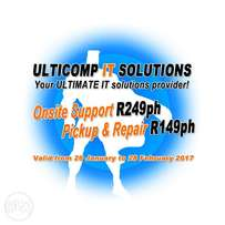 Ultimate Onsite Support R249ph, Pickup & Repair R149ph #KBY