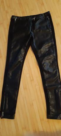 Spodnie skórzane czarne eko skóra mohito rurki roz 36