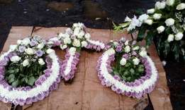 Graveside Wreath. Fresh Flowers