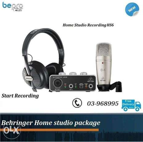 Behringer Home studio PRO PACKAGE , Recording Package All in One