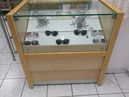 Glass and wooden display case